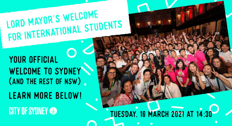 YOUR INITED - Lord Mayor's Welcome for International Students:image Header_Tile_COS_Event@2x-2-768x419